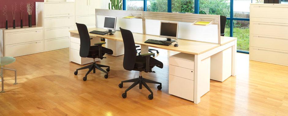 office desking. Project LW Range - Bench Desking Office